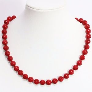 Coral Red South Sea Shell Pearl Necklace
